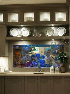 kitchen aquarium sick tanks pinterest aquariums With kitchen colors with white cabinets with fishing sticker