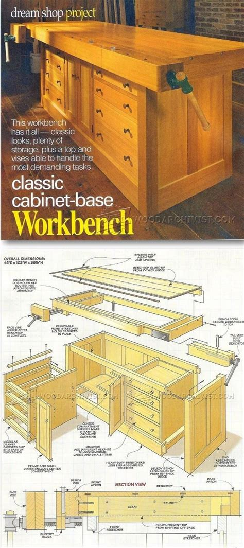 classic workbench plans workshop solutions plans tips