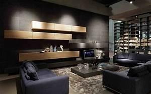 Salon Gris Et Bois : le salon gris et noir comment le d corer ~ Melissatoandfro.com Idées de Décoration