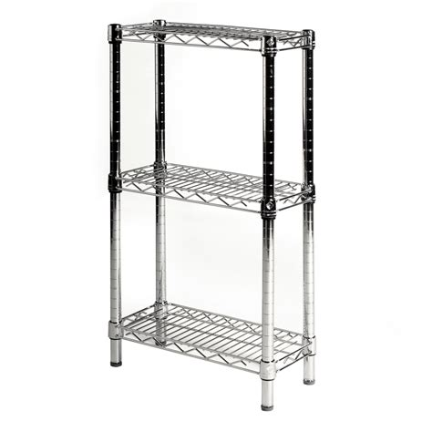 Wire Shelving by 8 Quot Depth Wire Shelving Unit With 3 Shelves Shelving Inc
