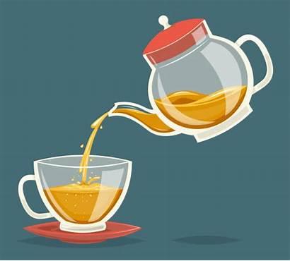 Teapot Pour Tea Drink Vector Pouring Water