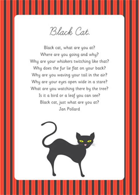 early learning resources black cat poem eyfs  ks