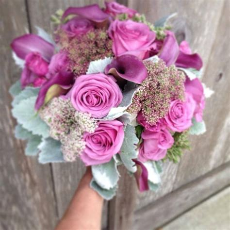 beautiful floral arrangements beautiful lavaneder bridal bouquet with roses and calla