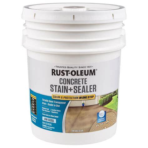 rust oleum decorative concrete paint rust oleum 5 gal clear low gloss concrete sealer 310426