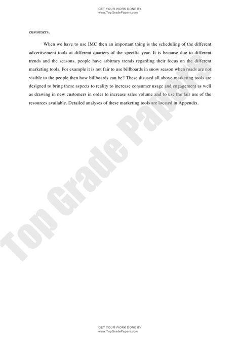 integrated marketing communication academic essay