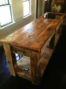 rustic kitchen islands crafted rustic kitchen island by e b mann custommade com