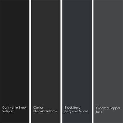 shades of black color for black cabinets paint by numbers pool