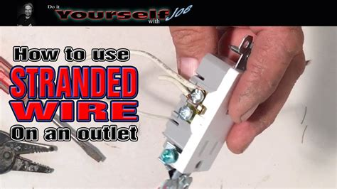 how to use stranded wire on an outlet