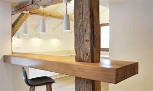 Holzdielen In Der Küche : alte balken gemischt mit neuem holzdesign in der offenen k che balken pinterest offene ~ Sanjose-hotels-ca.com Haus und Dekorationen