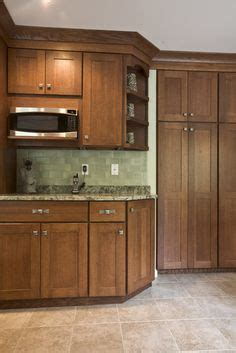 corner cabinets for kitchen they chose this 3x6 travertine tile to install in a brick 5824