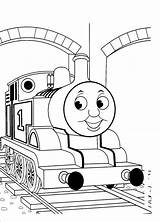 Thomas Coloring Train Pages Engine Tank Printable Sheets Simple sketch template