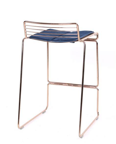 Chaise Bar Metal by Rosso Chaises De Bar Design Fil M 233 Tal Avec Coussin Velours