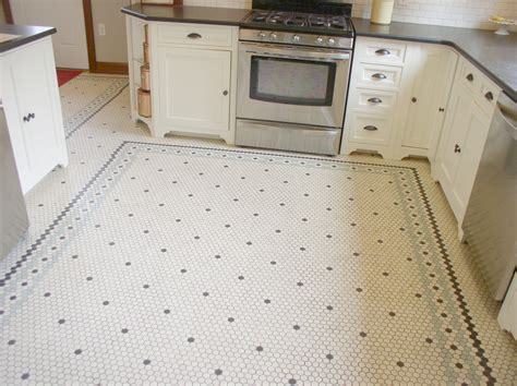 Penny Tile Floor In Kitchen  Morespoons #4630e6a18d65
