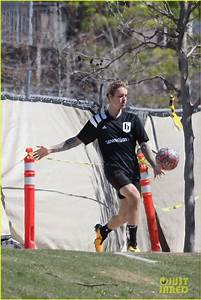 Justin Bieber Plays Soccer with His League on St. Patrick ...