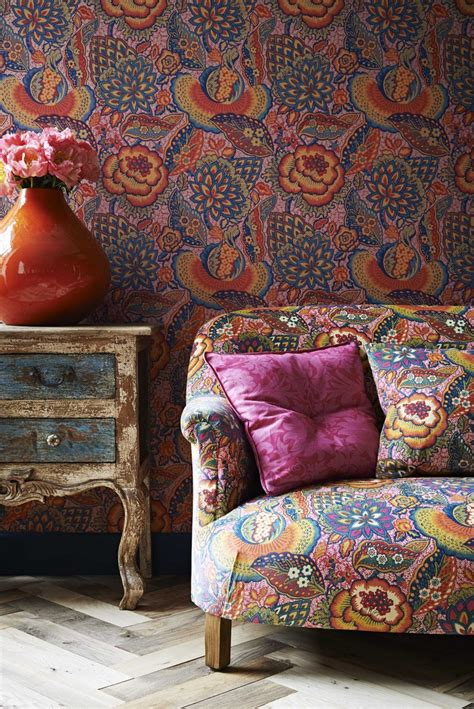 liberty fabrics  wallpapers mad   house