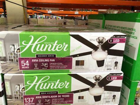 hunter avia 54 led ceiling fan 100 hunter fan 54 hunter designer series 54 inch