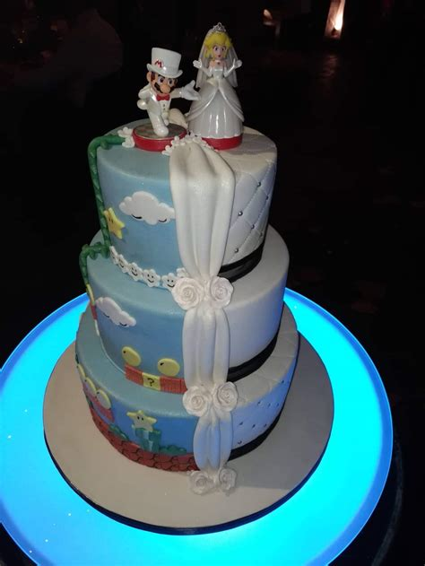 Our Wedding Cake For Our Mario Themed Wedding Casualnintendo