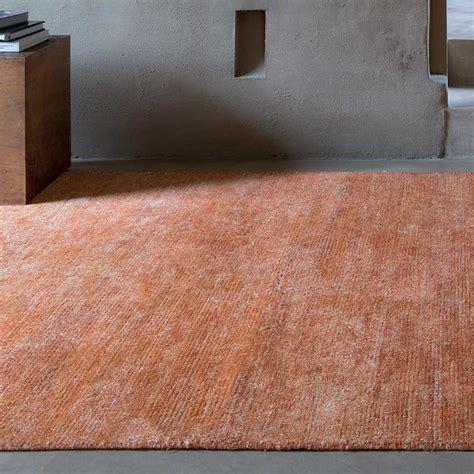 tapis haut de gamme en viscose orange tiss 233 e 224 la main