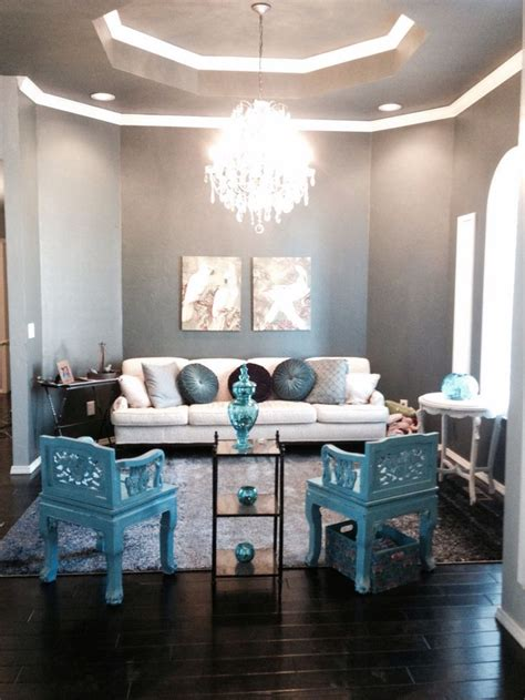 Grey And Turquoise Living Room by How To Decorate Your Living Room With Turquoise Accents