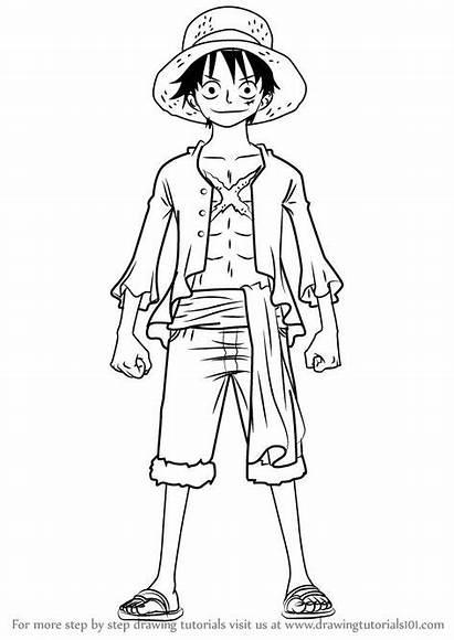 Luffy Piece Draw Monkey Anime Drawing Manga
