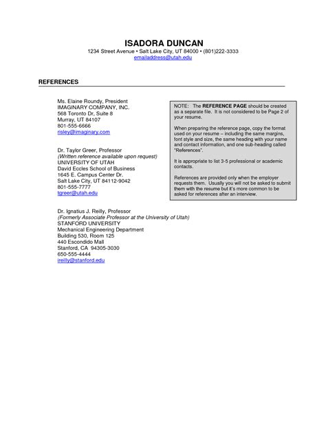 Resume Referee Sample Latest Pictures Videos Photos About