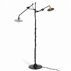 adjustable two arm oc white floor lamp customized by With floor lamp with 2 arms