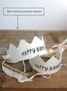 free printable happy birthday crowns free printables With happy birthday crown template