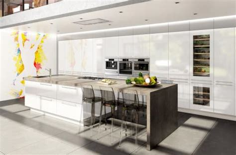 kitchen island with seating for 5 cuisine avec ilot central haut de gamme charles rema
