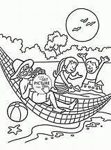 Vacation Coloring Pages Summer Awesome Printable Getdrawings Super Getcolorings Template Seasons Pag sketch template