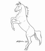Rearing Horse Coloring Pages