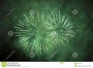 Green Fireworks Stock Photo - Image: 43561059