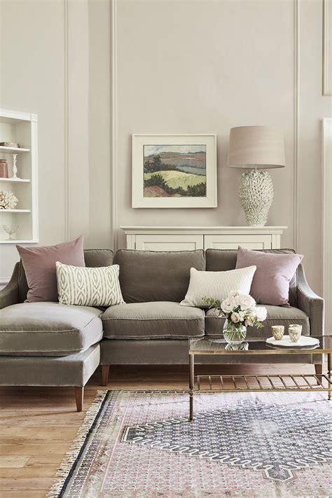 Decorating Ideas Grey Sofa by Iggy Medium Lhf Chaise Sofa In Squirrel Cotton Matt Velvet