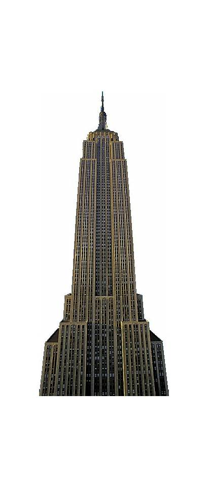 Empire Building State York Gold Famous Office