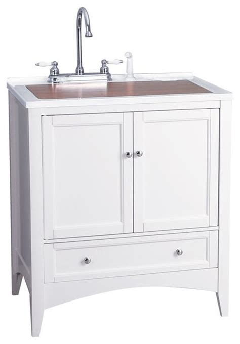utility sink vanity berkshire 30 quot white laundry sink vanity contemporary