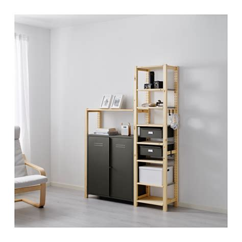 ivar 2 sections tablettes armoire ikea
