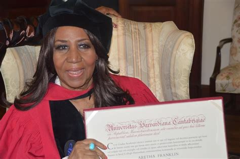 aretha franklin receives honorary doctorate  harvard