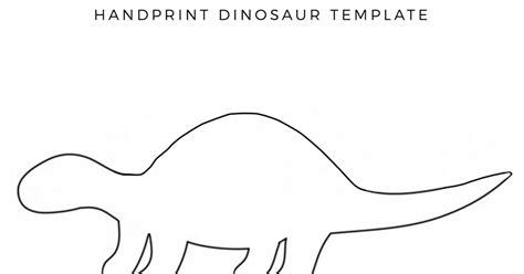 Dinosaur Template Handprint Dinosaur Mrs Moreman S Class Pre K
