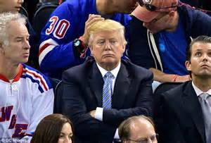 donald trump fan club michael j fox and son sam look nearly identical at nhl cup