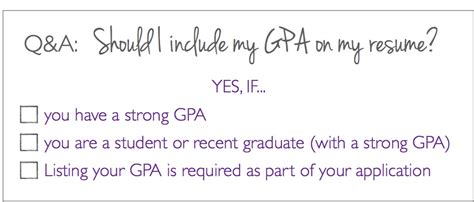 q a should i put my gpa on my resume the prepary