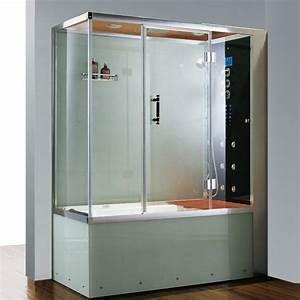 Prix Baignoire Balneo : combin baignoire douche athena ii ~ Edinachiropracticcenter.com Idées de Décoration
