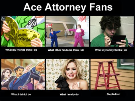 Ace Attorney Memes - ace attorney fans what people think i do what i really do know your meme
