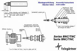 Tnc Straight Plug Solder 50 U Telegaertner