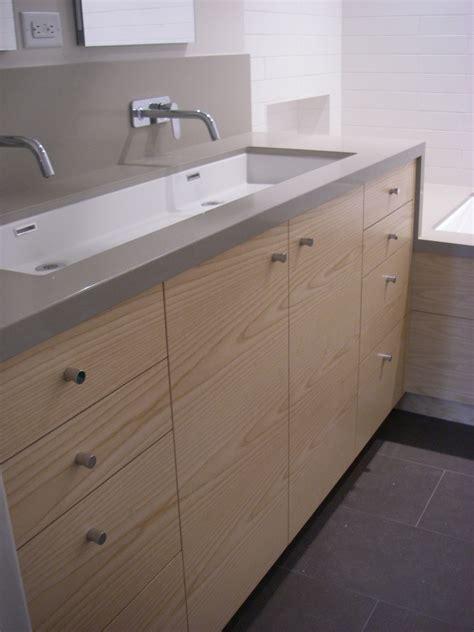 concrete trough sink trough sink bathroom contemporary with beige