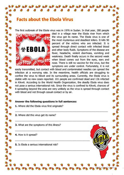 facts about the ebola virus worksheet free esl printable worksheets made by teachers