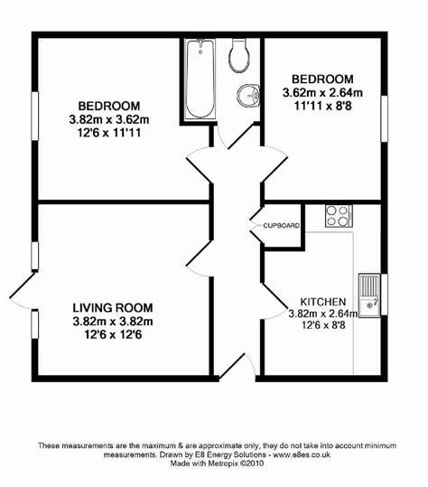 floor plan of two bedroom flat marina way abingdon ox14 ref 6288 abingdon