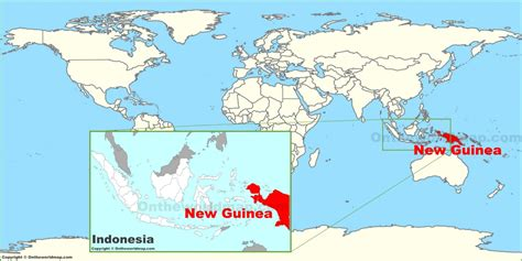 guinea   world map