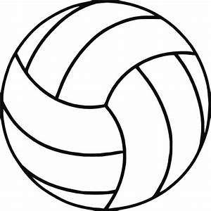 Free Volleyball Clipart Black And White | Clipart Panda ...
