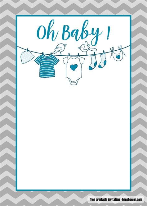 printable onesie baby shower invitations templates