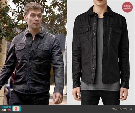 Klaus's black leather shirt on The Originals | Leather ...