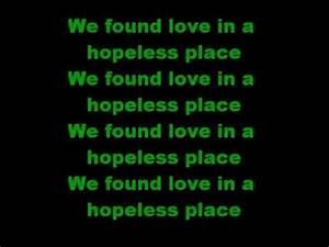 We Found Love in A Hopeless Place Rihanna *LYRICS* - YouTube
